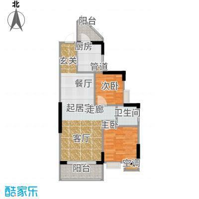 祥御・巴山二期祥御巴山三期57.65㎡4号楼6双阳台户型