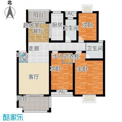 三江・花中城107.32㎡户型