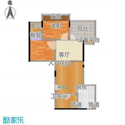丹枫雅苑50.00㎡房型户型