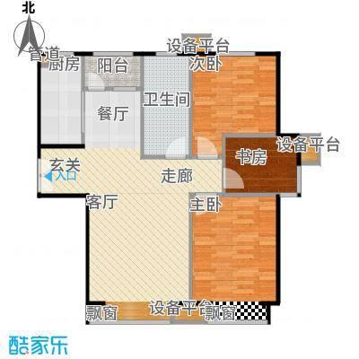 深航翡翠城户型3室1厅1卫1厨