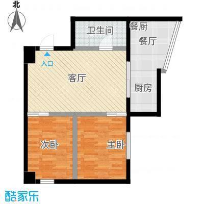 银河国际住宅66.00㎡房型户型