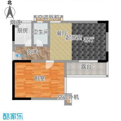 馨润尚寓63.00㎡B1座12单元户型