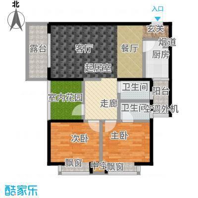 南湾江上一期单体楼标准层A1户型