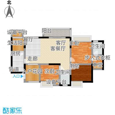 润锦・御珑山御珑山122.87㎡润锦御珑山一期5号楼标准层A2领袖公馆户型