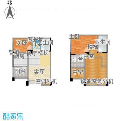 睿尚睿尚・MOHO65.77㎡A/+双阳台户型