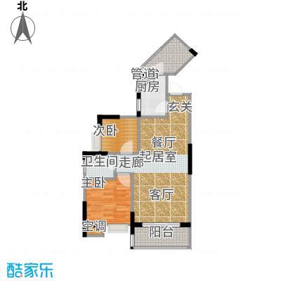 祥御・巴山二期祥御巴山三期55.96㎡4号楼34双阳台户型