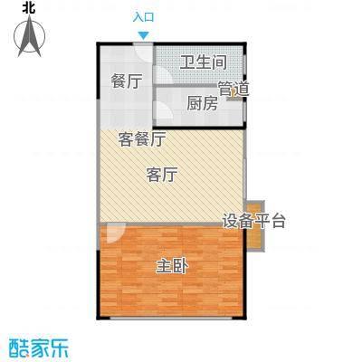 人瑞潇湘国际83.32㎡D型户型