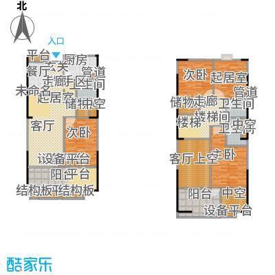 紫薇尚层92.14㎡A型结构户型