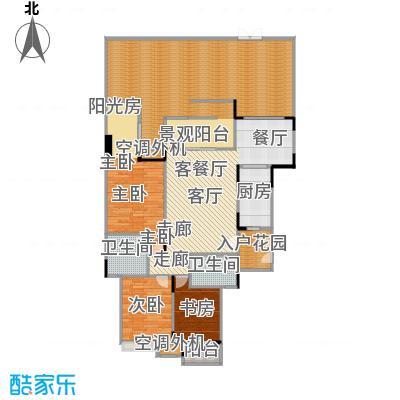 福江・名城名城116.58㎡一期2号楼4单元1层1号房3室户型