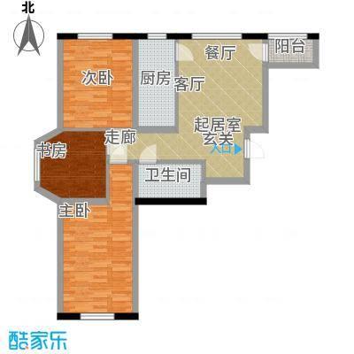 中顺和苑96.00㎡户型