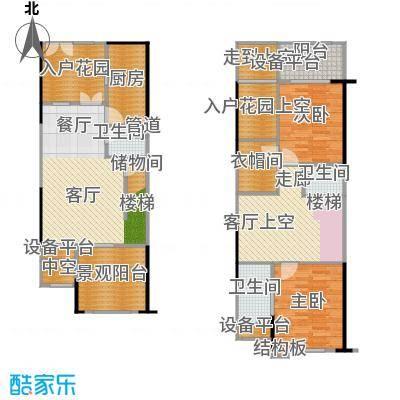 复地・上城国际公寓上城国际公寓99.00㎡图为复地新城就天镜D2可变带院馆及入户花园户型