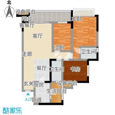 润锦・御珑山御珑山121.42㎡润锦御珑山一期5号楼标准层A1中央观邸户型