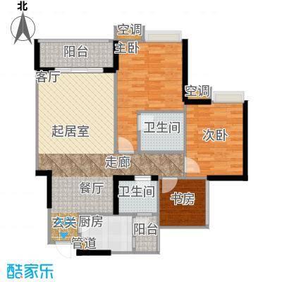 寓乐圈永缘・寓乐圈77.46㎡三期7、8、9号楼标准层B户型