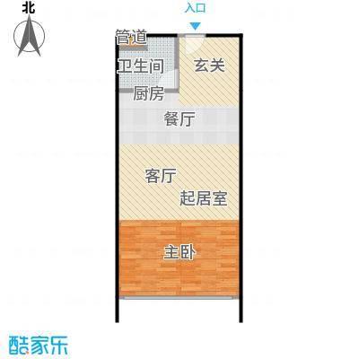 人瑞潇湘国际62.19㎡B型户型