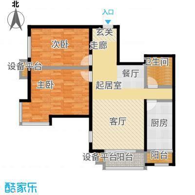 丽阳馨苑90.00㎡房型户型