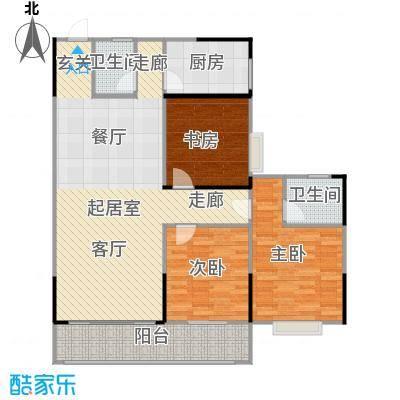 瑞凯・景城苑户型3室2卫1厨