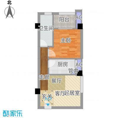 南枫时光51.27㎡户型