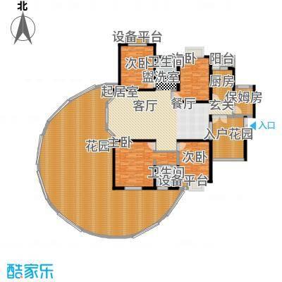 富湾国际206.00㎡01偶数层户型