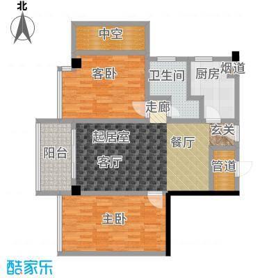 颐和雅轩82.03㎡南塔17-21层03单元户型