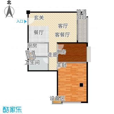 东城国际公寓907单位户型