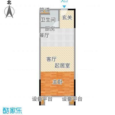 人瑞潇湘国际55.47㎡B1型户型