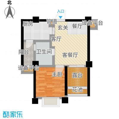 雅居乐花园户型1室1厅1卫1厨