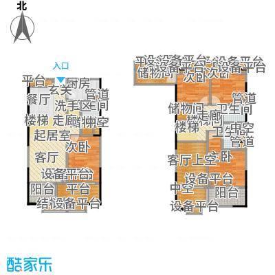 紫薇尚层93.79㎡A型结构户型