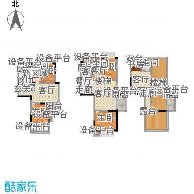 滨河御景户型4室2厅3卫2厨