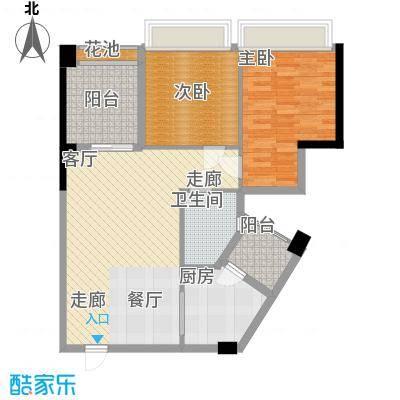 华美丽苑88.00㎡户型