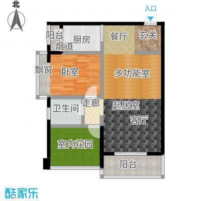南湾江上一期单体楼标准层A4户型