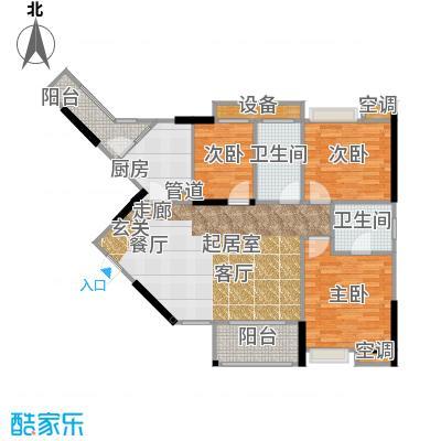 祥御・巴山二期祥御巴山三期83.24㎡4号楼5双卫双阳台户型