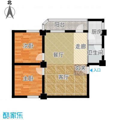 纵横白领公寓72.69㎡B栋01户型