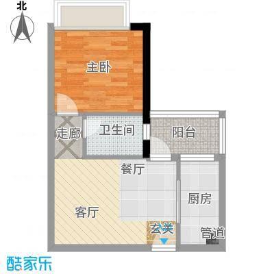 景尚雅苑40.00㎡房型户型