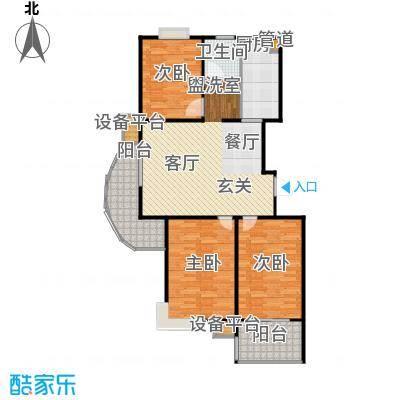福星新城107.00㎡房型户型