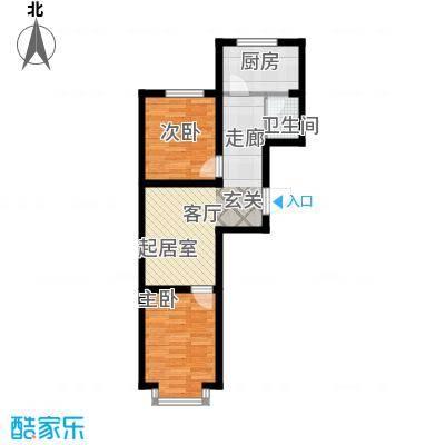 江山别院65.87㎡E户型
