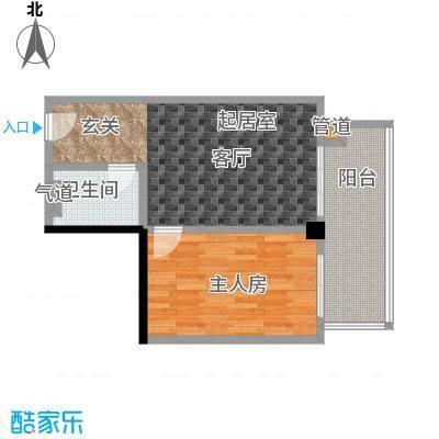 颐和雅轩61.35㎡南塔23-25层05单元户型