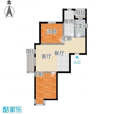 宝龙湾佳园100.00㎡房型户型