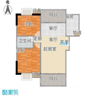 广电江湾新城86.00㎡A户型