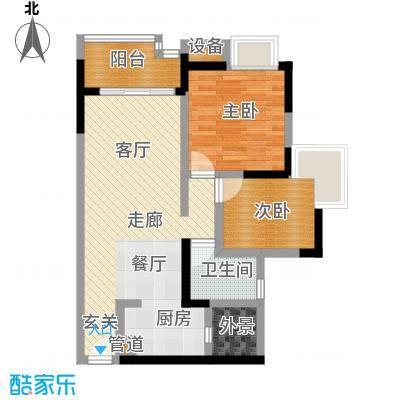 富力现代广场69.42㎡12号楼4号房户型