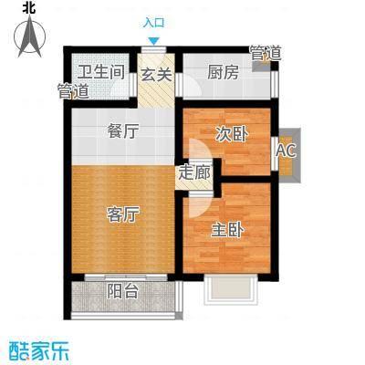 国宾豪庭・快乐空间52.86㎡房型户型