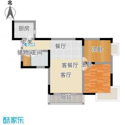 巴蜀剑桥77.39㎡房型户型