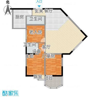桂花景苑96.15㎡房型户型