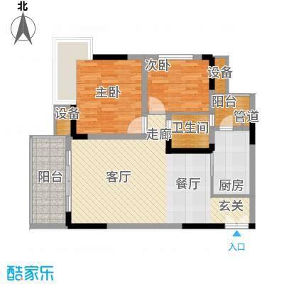 欧鹏K城59.74㎡房型户型