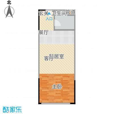 人瑞潇湘国际56.34㎡A型户型