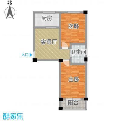 鹏辉新天居55.00㎡户型