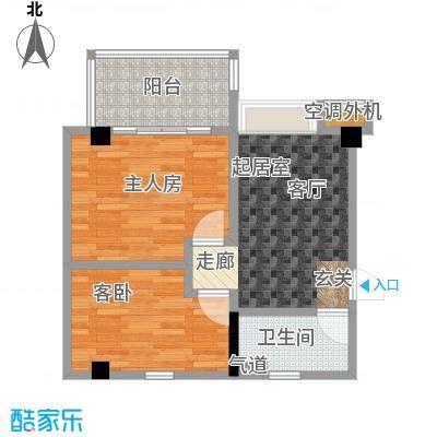 颐和雅轩77.49㎡南塔23-25层06单元户型