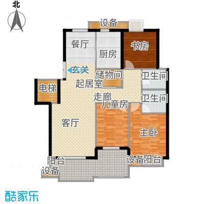 奥体新城户型3室2卫1厨