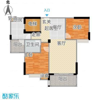 广电江湾新城86.00㎡B户型
