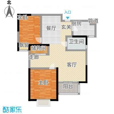 万和源居户型2室1厅1卫1厨