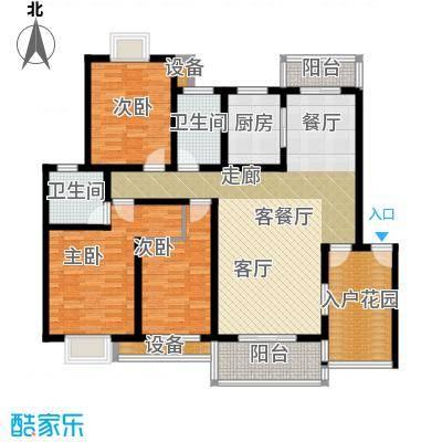 天元吉第城户型3室1厅2卫1厨